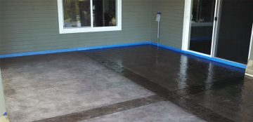 Re-Dying Decorative Stamped Concrete | Clean-Coat